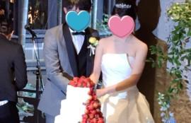 姪の結婚式の様子